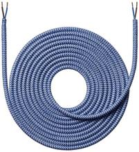 Nielsen stoffledning Zig/Zag 2x0,75 mm², 4 meter, mørkeblå