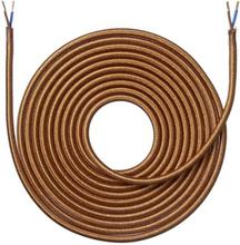 Nielsen Light tygledning melerad 2x0,75 mm², 4 meter, skinande koppar