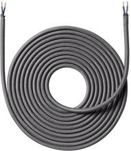 Nielsen stoffledning 2x0,75 mm², 4 meter, mørkegrå