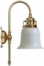 Badrumslampa - Blomberg 60 opalvit klocka