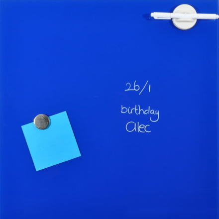 DESQ Magnetisk glastavla 45x45 cm blå