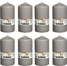 Bolsius Blockljus 8 st 150x78 mm varm grå