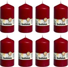 Bolsius Blockljus 8 st 130x68 mm vinröd