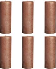 Bolsius Rustika blockljus 6 st 190x68 cm koppar