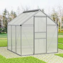 vidaXL Växthus aluminium 7,04 m³