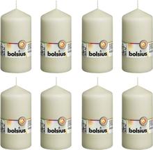 Bolsius Blockljus 8 st 130x68 mm elfenben