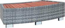 vidaXL Spakrakk grå polyrotting 92x45x25 cm