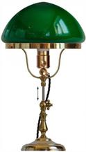 Bordslampa - Fahlcrantz mässing, grön skärm