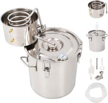 vidaXL Destillator vatten/alkohol/hembränt rostfritt stål 18 L