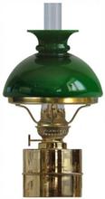 Fotogenlampa - Flaggskär mässing med grön skärm