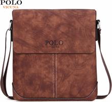 VICUNA POLO Vintage Panelled Men Messenger Bag Personality Contrast Color Crossbody Shoulder Bag For Man Business Man Handbag