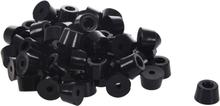 Hot Sale 60 Pcs Universal TapeRed Black Rubber Feet Bumper Pad Washer 15mmx10mm