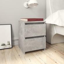 vidaXL Sängbord 2 st betonggrå 30x30x40 cm spånskiva