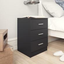 vidaXL Sängbord svart 38x35x56 cm spånskiva