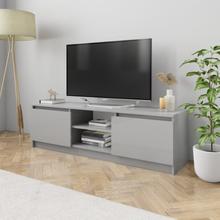vidaXL TV-bänk grå högglans 120x30x35,5 cm spånskiva