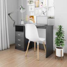 vidaXL Skrivbord med lådor svart 100x50x76 cm spånskiva