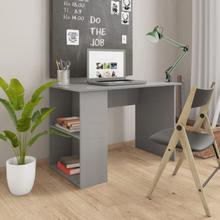 vidaXL Skrivbord grå högglans 110x60x73 cm spånskiva