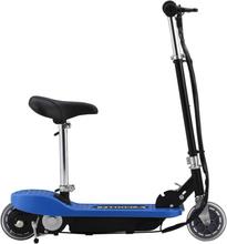 vidaXL Elektrisk sparkcykel med sadel 120 W blå