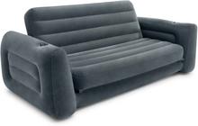 Intex Utdragbar soffa grå vinyl