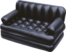 Bestway 5-i-1 Uppblåsbar dubbel bäddsoffa svart 188x152x64 cm