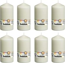 Bolsius Blockljus 8 st 150x78 mm elfenben