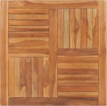 vidaXL bordplade 90x90x2,5 cm firkantet massivt teaktræ