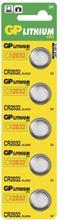 GP BATTERIES GP CR 2032, litiumbatteri 5-pack 4891199001147 Replace: N/AGP BATTERIES GP CR 2032, litiumbatteri 5-pack