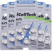 iCellTech iCellTech PR44/ZA675/DA675 5-p Hörapparatsbatteri 52731694-5 Replace: N/AiCellTech iCellTech PR44/ZA675/DA675 5-p Hörapparatsbatteri