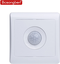 Bcsongben New Arrivals 220v 86 wall smart home led Infrared control energy-saving delay Lights Lamps motion sensor light switch