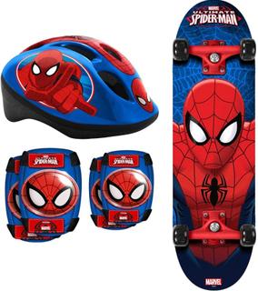 Spider-ManPaket Spindelmannen Skateboard + Skyddsset