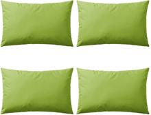 vidaXL Prydnadskuddar för trädgården 4 st 60x40 cm äppelgrön