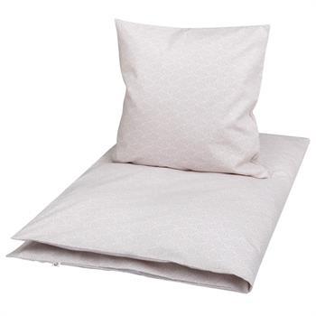 Økologisk sengetøj - Müsli by Green Cotton - 140x220 cm - Leaf lys rosa - Home-tex