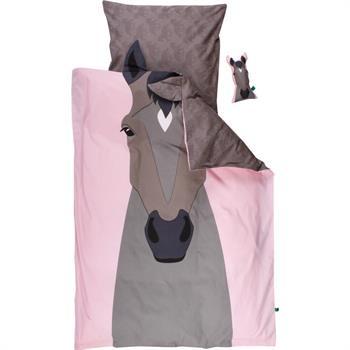 Økologisk Baby sengetøj - Freds World - 70x100 cm - Hest - Home-tex