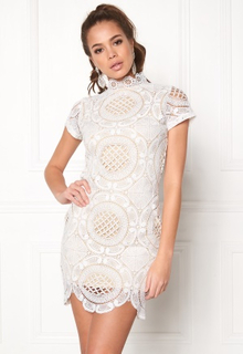 Girl In Mind Lace Dress White L (UK14)
