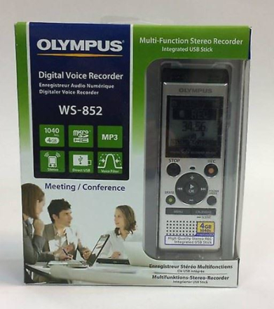 Olympus WS-852 Digital Voice Recorder 4GB med innebygd USB pluss Mi...