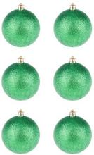 BasicsHome Julekugler Metallic Grøn 8 cm 6 stk