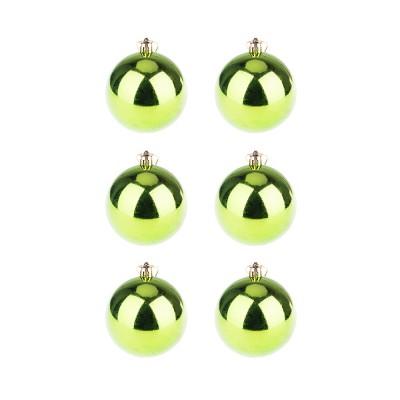 BasicsHome Joulupallo Kiiltävän Vihreä 6 kpl