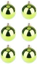 BasicsHome Julekugler Shiny Grøn 8 cm 6 stk