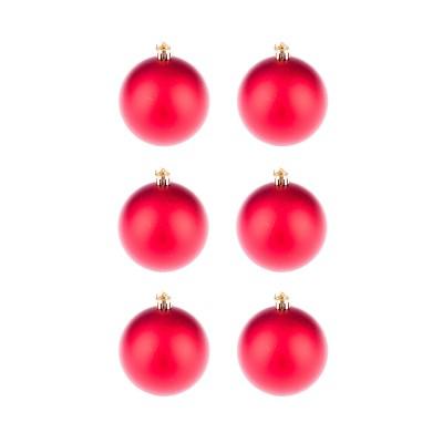 BasicsHome Joulupallo Matta Punainen 6 kpl