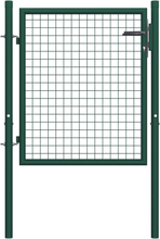 Hageport stål 100x125 cm grønn