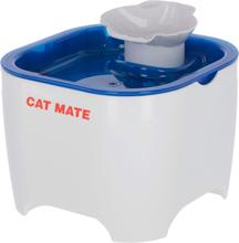 Kerbl vandskål til kæledyr Cat Mate 19x19x14,5 cm hvid og blå