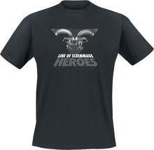 Line Of Scrimmage Heroes - -T-skjorte - svart