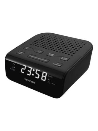 DAB bærbar radio SRC 136 B - clock radio - FM - Sort