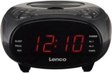 CR-740 - clock radio - CD - AM/FM - Stereo - Svart