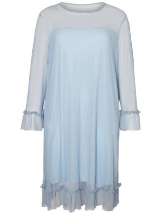 JUNAROSE Mesh Dress Women Blue