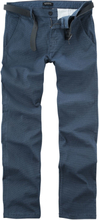 Shine Original - AOP Stretch Chino w. Belt -Chino-bukser - marineblå