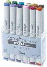 Copic Sketch set - 12 pennor - EX-6