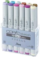 Copic Sketch set - 12 pennor - EX-5