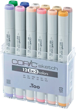 Copic Sketch set - 12 pennor - EX-3