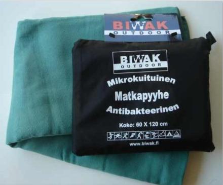 Biwak Matkapyyhe antibakteerinen, vihreä - 60 X 120 cm